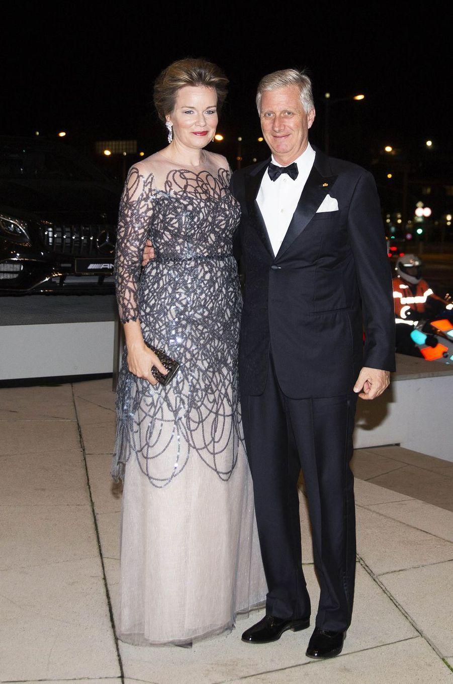 La reine Mathilde et le roi des Belges Philippe à Luxembourg, le 16 octobre 2019