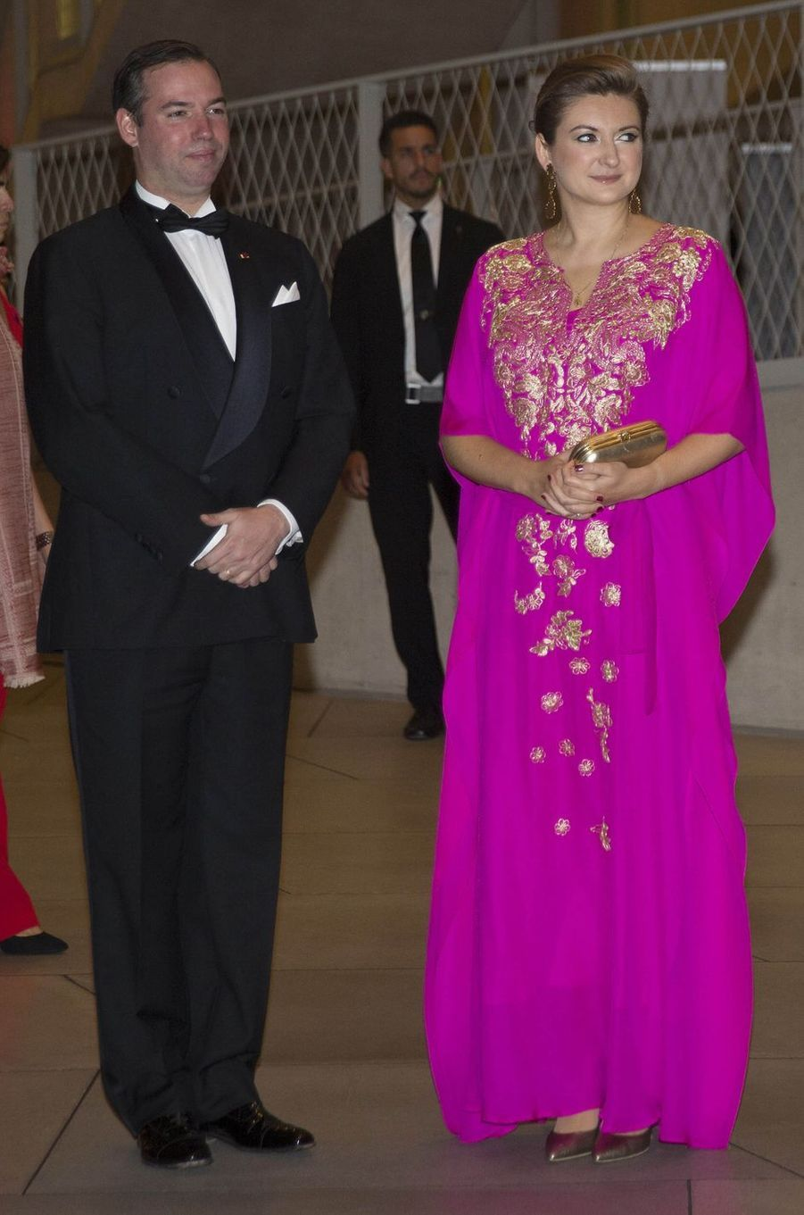 La princesse Stéphanie et le prince Guillaume de Luxembourg à Luxembourg, le 16 octobre 2019
