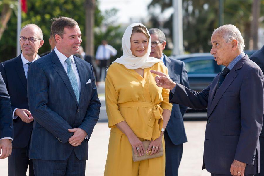 Le grand-duc héritier Guillaume de Luxembourg et la grande-duchesse héritière Stéphanie à Rabat, le 23 septembre 2019