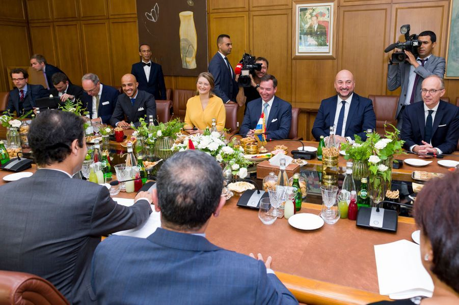 Le prince Guillaume de Luxembourg et la princesse Stéphanie à Rabat, le 23 septembre 2019
