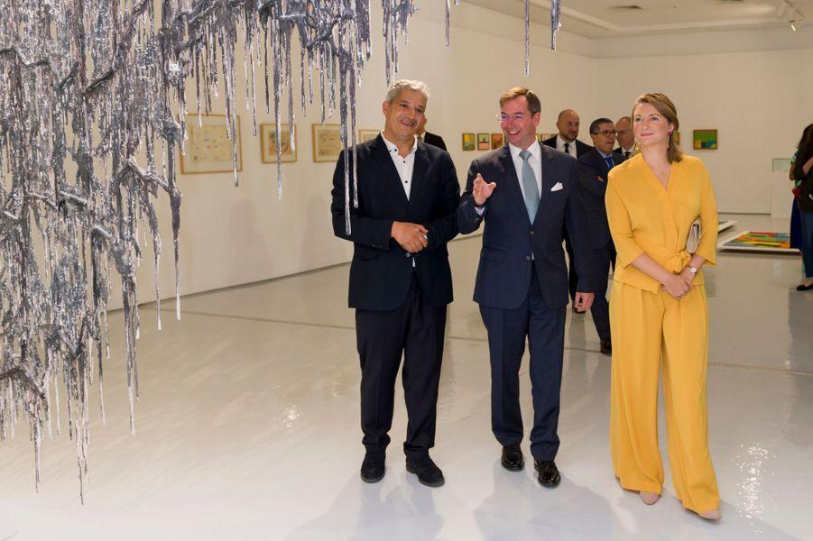 Le prince Guillaume et la princesse Stéphanie de Luxembourg à Rabat, le 23 septembre 2019
