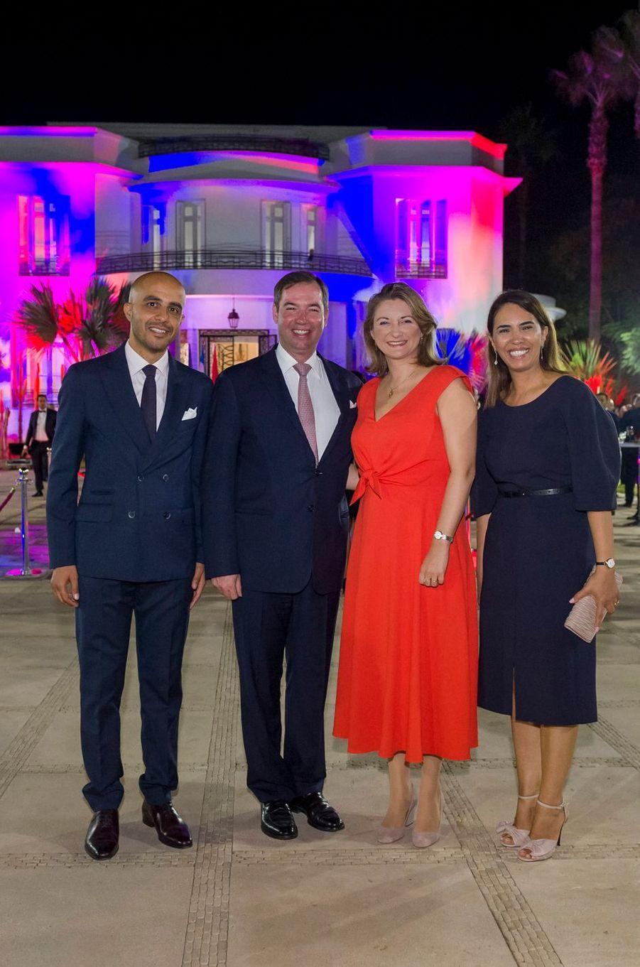 Le prince Guillaume et la princesse Stéphanie de Luxembourg à Casablanca, le 24 septembre 2019