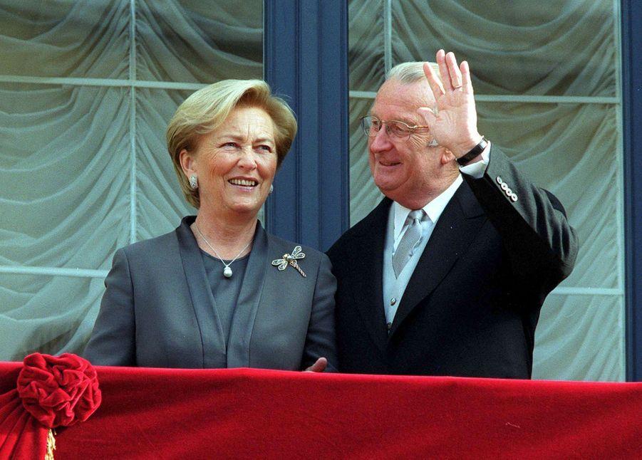 La reine Paola et le roi des Belges Albert II à Luxembourg, le 7 octobre 2020