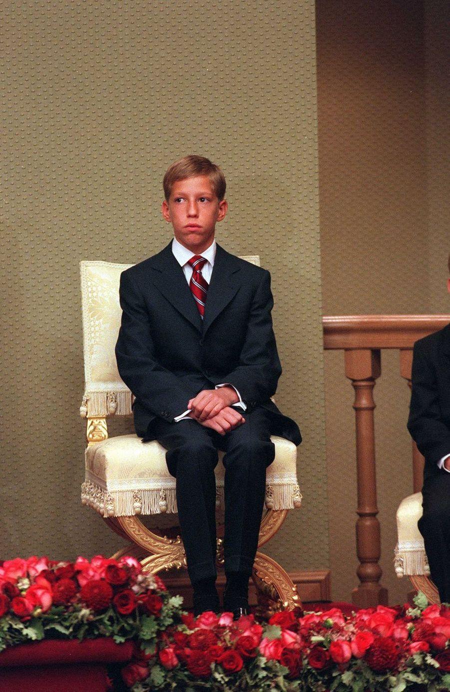 Le prince Louis de Luxembourg, le 7 octobre 2000