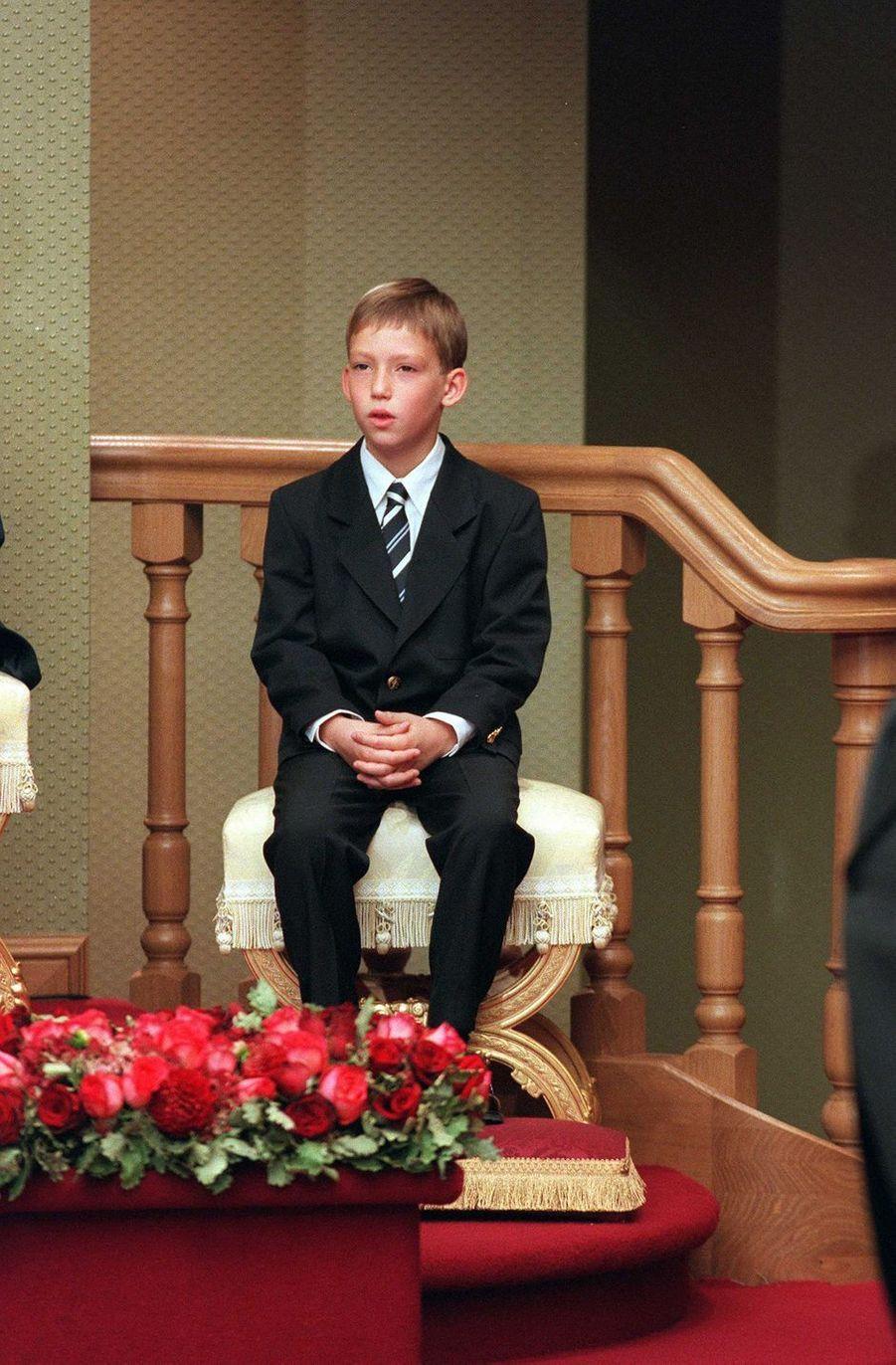 Le prince Sébastien de Luxembourg, le 7 octobre 2000