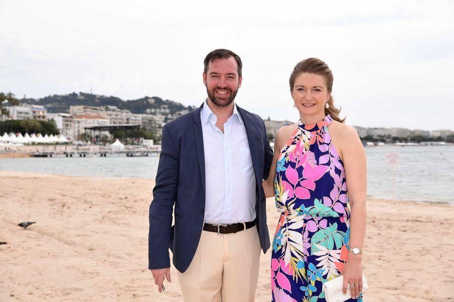 Le prince Guillaume et la princesse Stéphanie de Luxembourg à Cannes, le 18 mai 2017