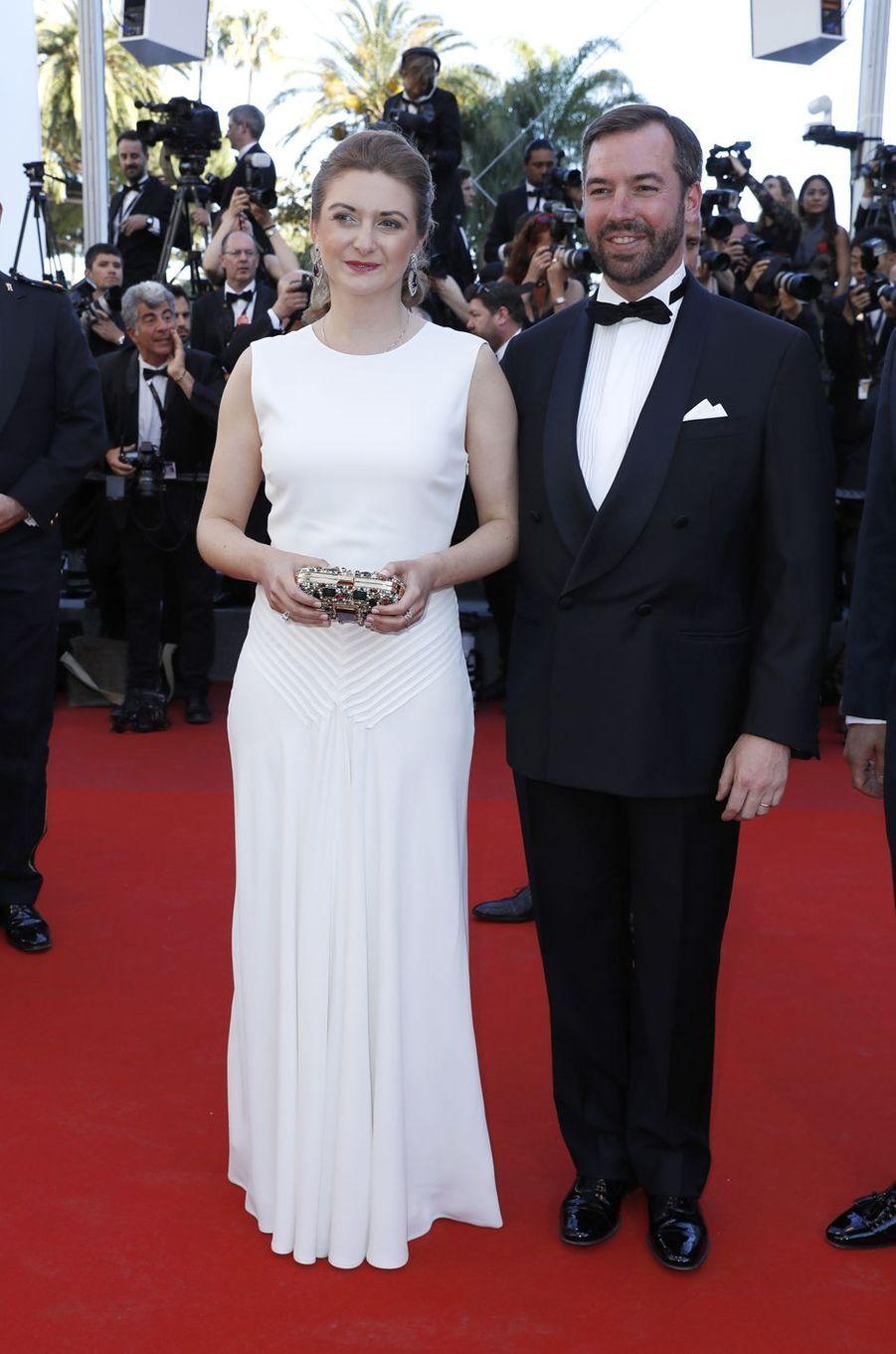 La princesse Stéphanie et le prince Guillaume de Luxembourg au 70e Festival de Cannes, le 17 mai 2017