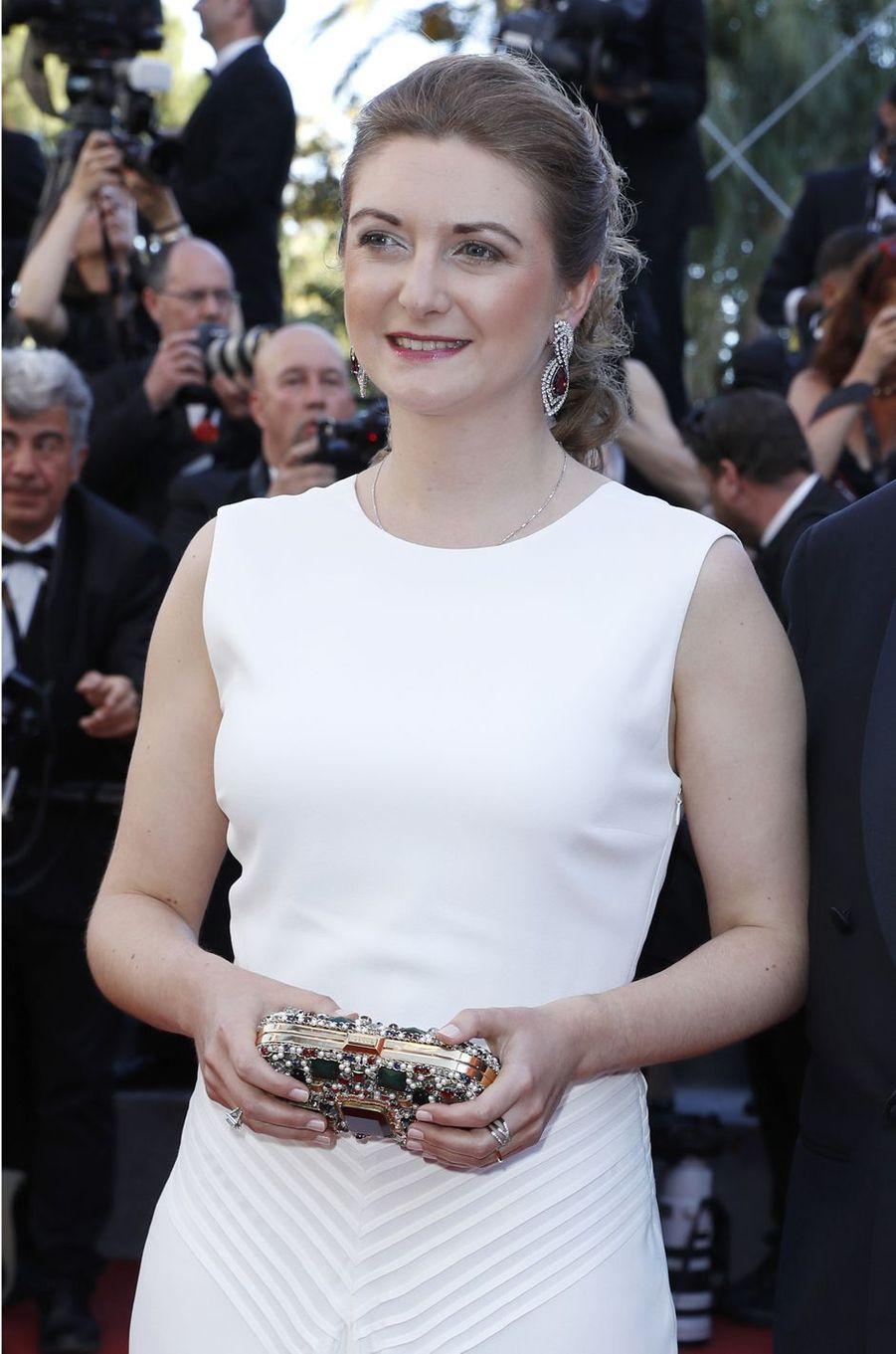 La princesse Stéphanie de Luxembourg à Cannes, le 17 mai 2017