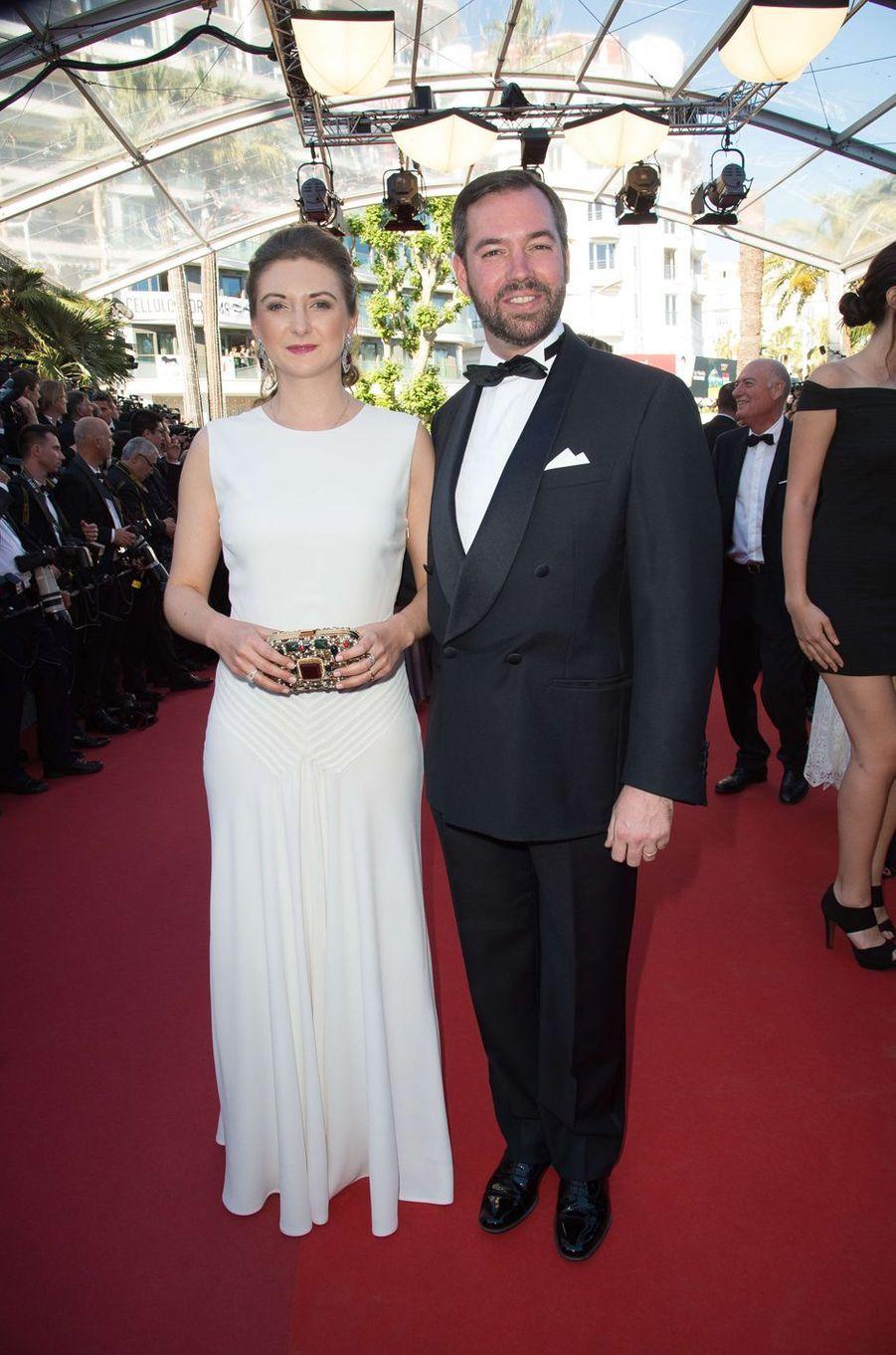 La princesse Stéphanie et le prince Guillaume de Luxembourg à Cannes, le 17 mai 2017