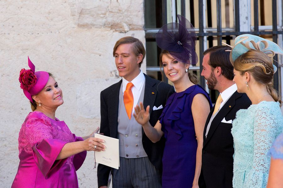 La princesse Tessy du Luxembourg au mariage de Felix et Claire, en 2013