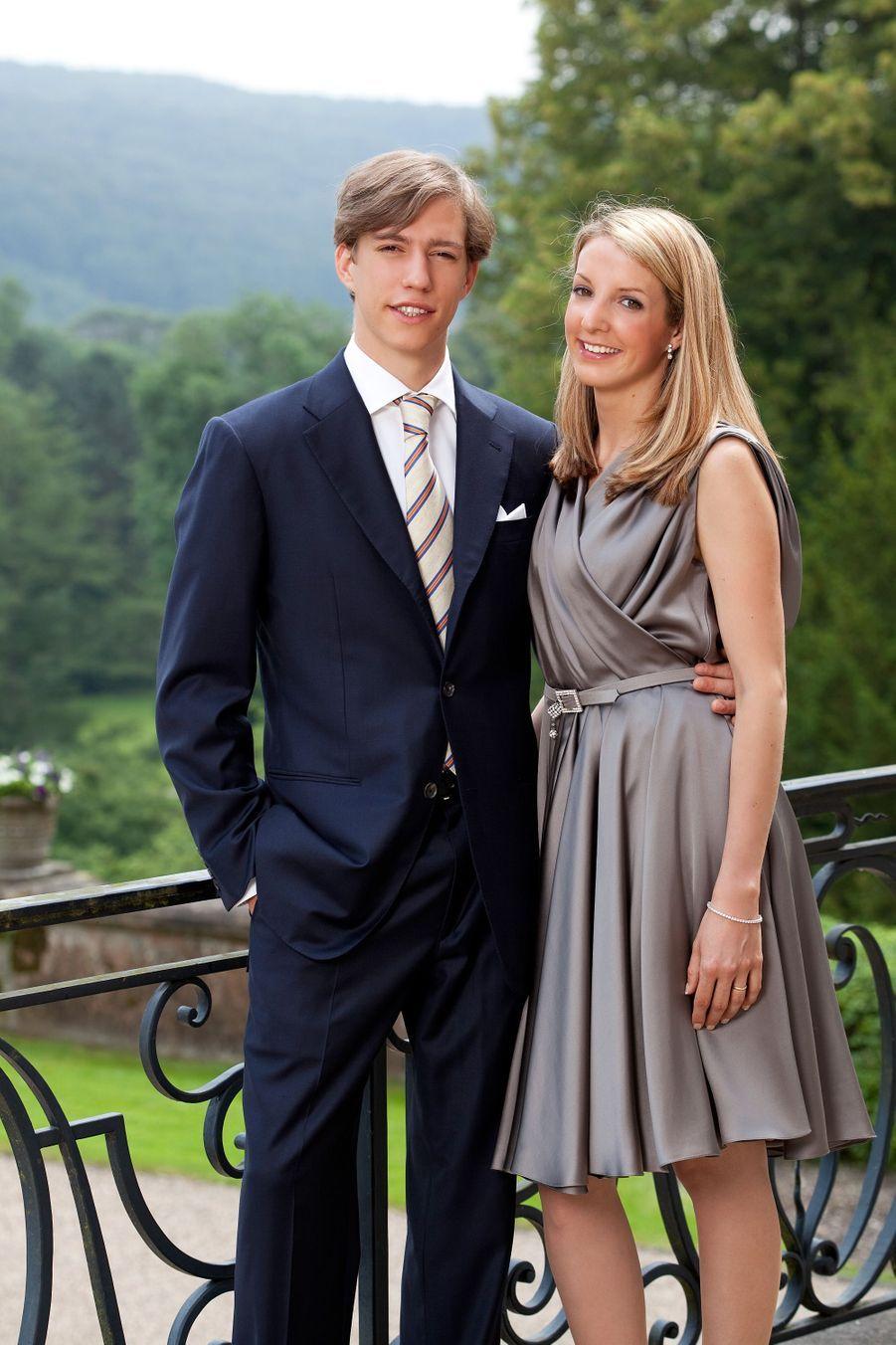 La princesse Tessy du Luxembourg, avec son époux le prince Louis en 2009