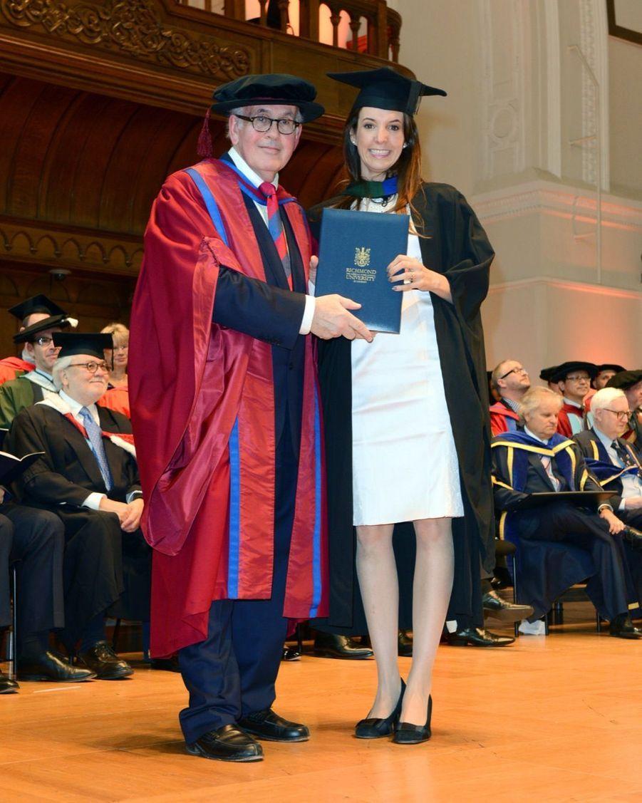 La princesse Tessy du Luxembourg, diplomée de relations internationales en 2014