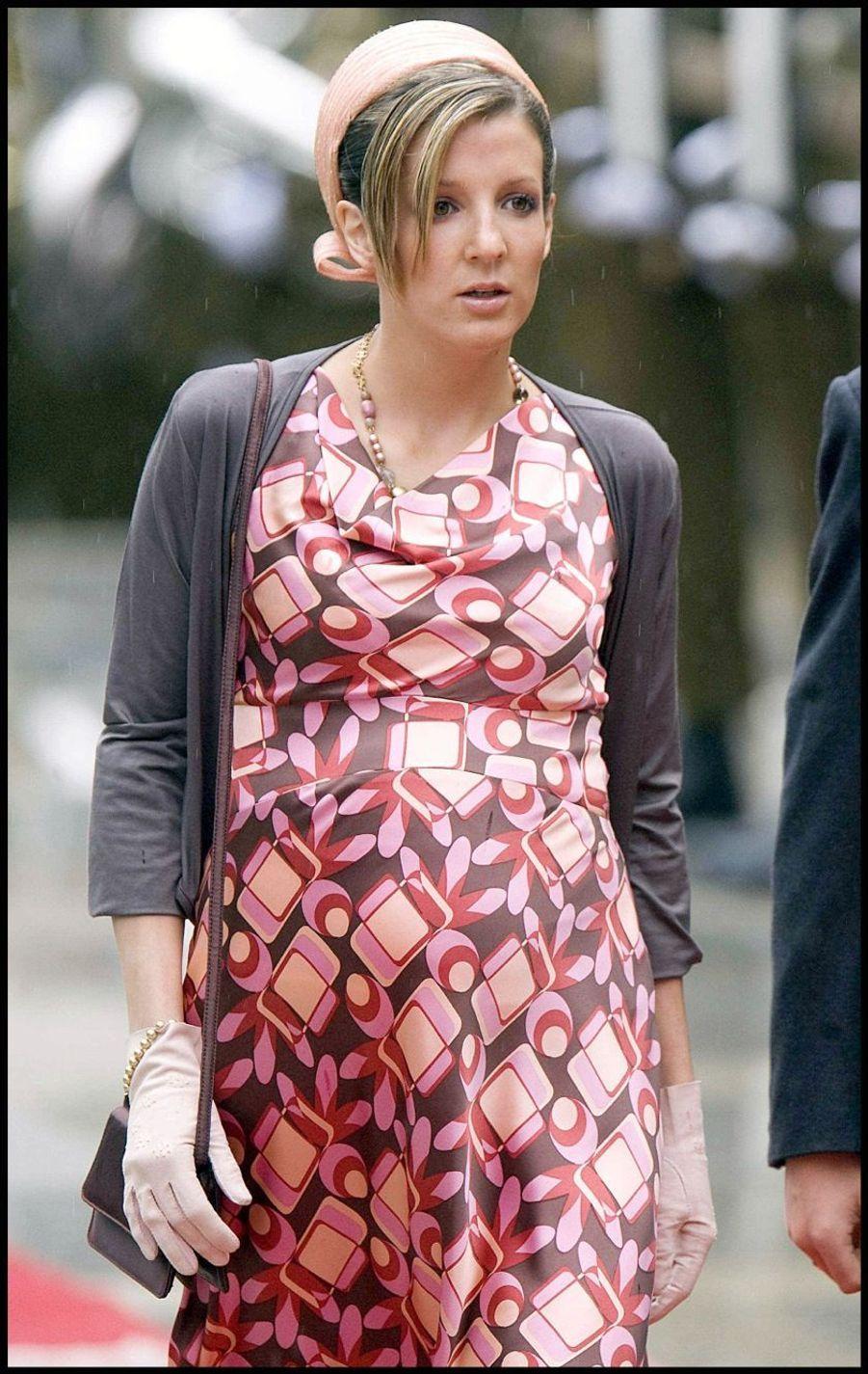 La princesse Tessy du Luxembourg, enceinte de son fils Noah, en 2007