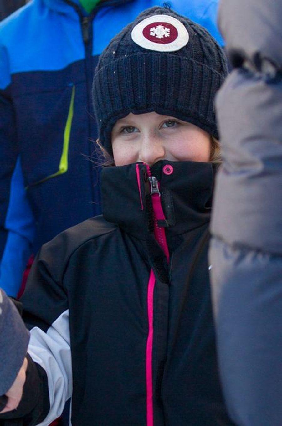 Emma Tallulah, la plus jeune fille de la princesse Martha Louise de Norvège, à Oslo le 17 janvier 2016