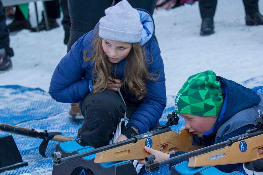 La princesse Ingrid Alexandra et le prince Sverre Magnus de Norvège à Oslo, le 17 janvier 2016