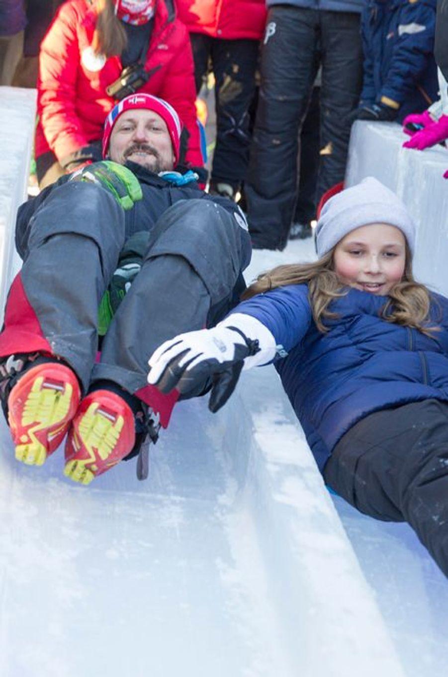 Le prince Haakon et la princesse Ingrid Alexandra de Norvège à Oslo, le 17 janvier 2016