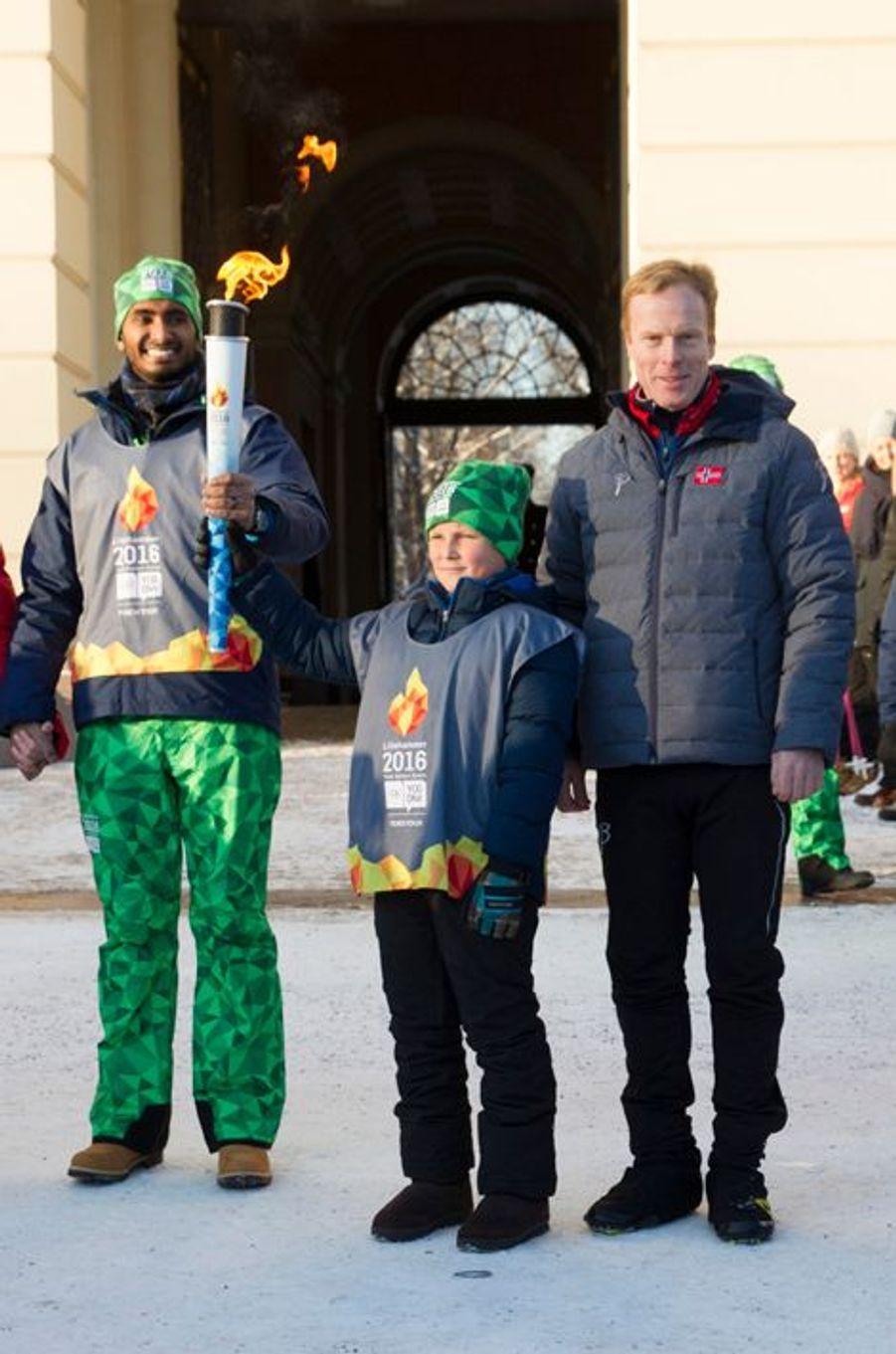 Le prince Sverre Magnus de Norvège à Oslo, le 17 janvier 2016