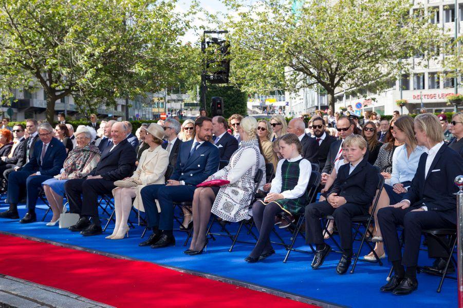La famille royale de Norvège à Oslo le 7 juin 2015