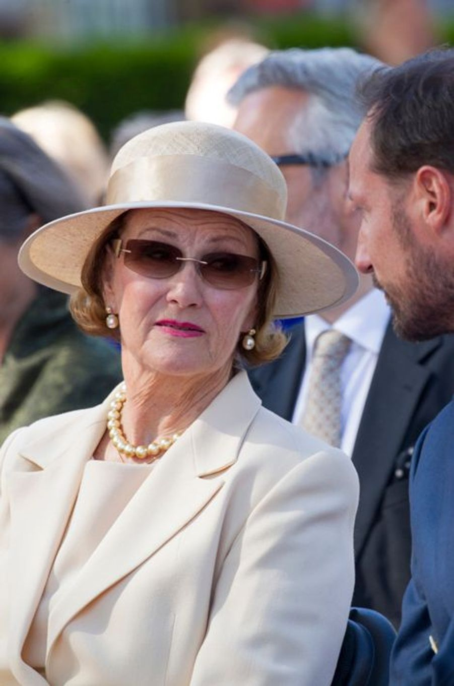 La reine Sonja et le prince Haakon de Norvège à Oslo, le 7 juin 2015