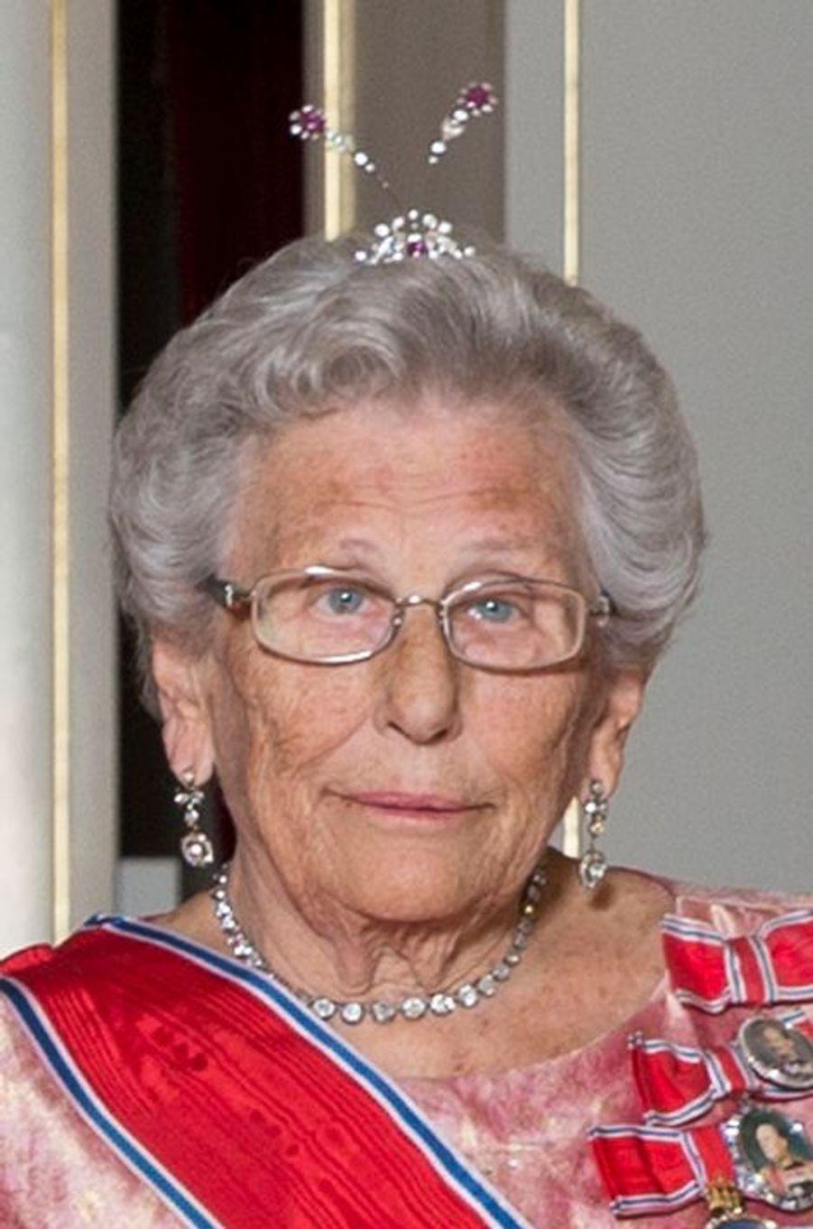La princesse Astrid de Norvège au Palais royal à Oslo, le 22 octobre 2015