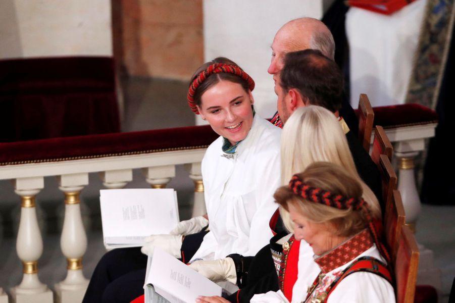 La princesse Ingrid Alexandra de Norvège lors de sa confirmation, à Oslo le 31 août 2019