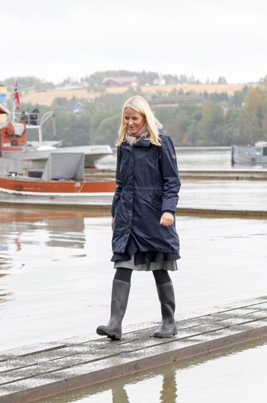 La princesse Mette-Marit de Norvège à Fetsund, le 16 septembre 2015