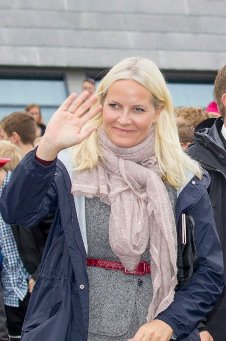 La princesse Mette-Marit de Norvège à Gjerdrum, le 16 septembre 2015