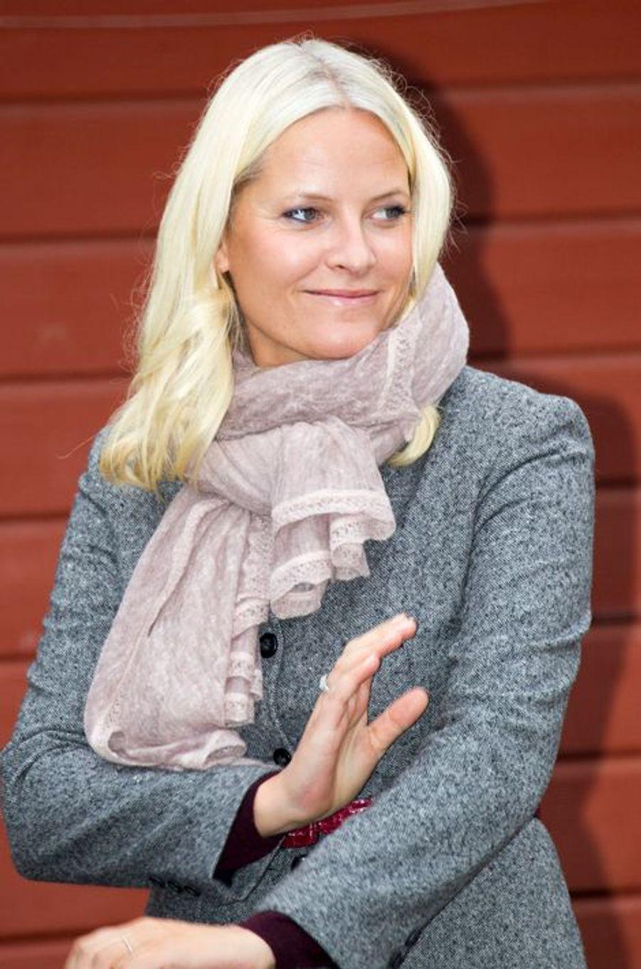 La princesse Mette-Marit de Norvège à Nannestad, le 16 septembre 2015