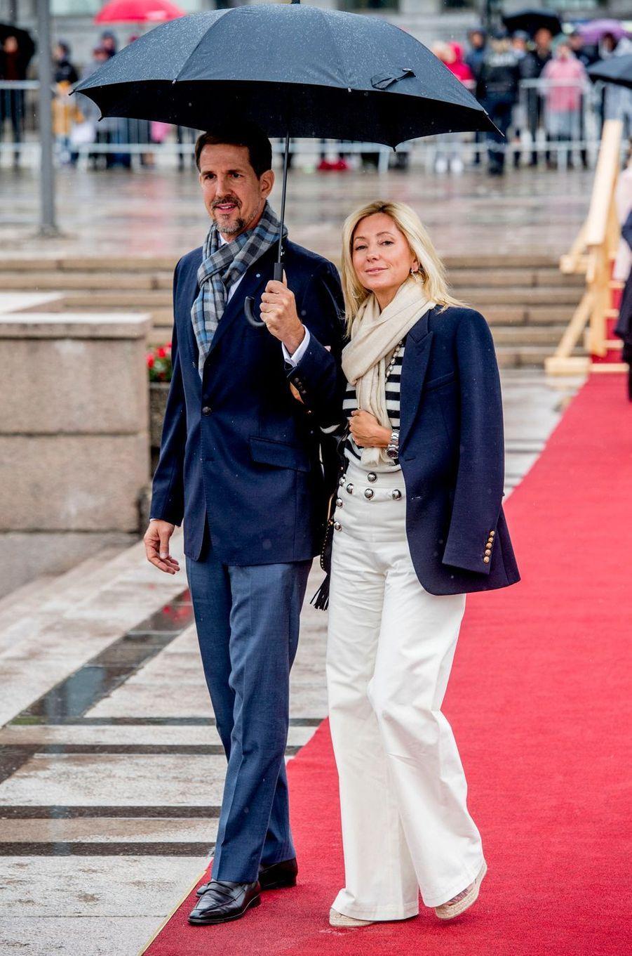Le prince Pavlos et la princesse Marie-Chantal de Grèce à Oslo, le 10 mai 2017