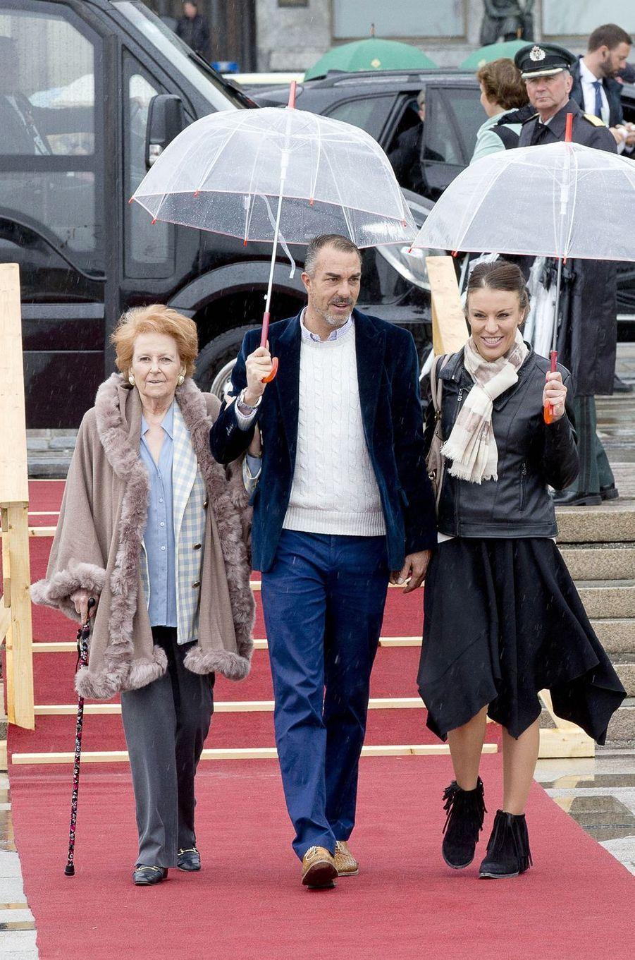 Lady Elizabeth Shakerley, Carlos Eugster et Desiree Kogevinas à Oslo le 10 mai 2017
