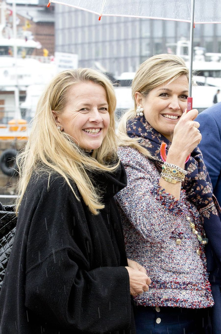 La princesse Mabel et la reine Maxima des Pays-Bas à Oslo, le 10 mai 2017