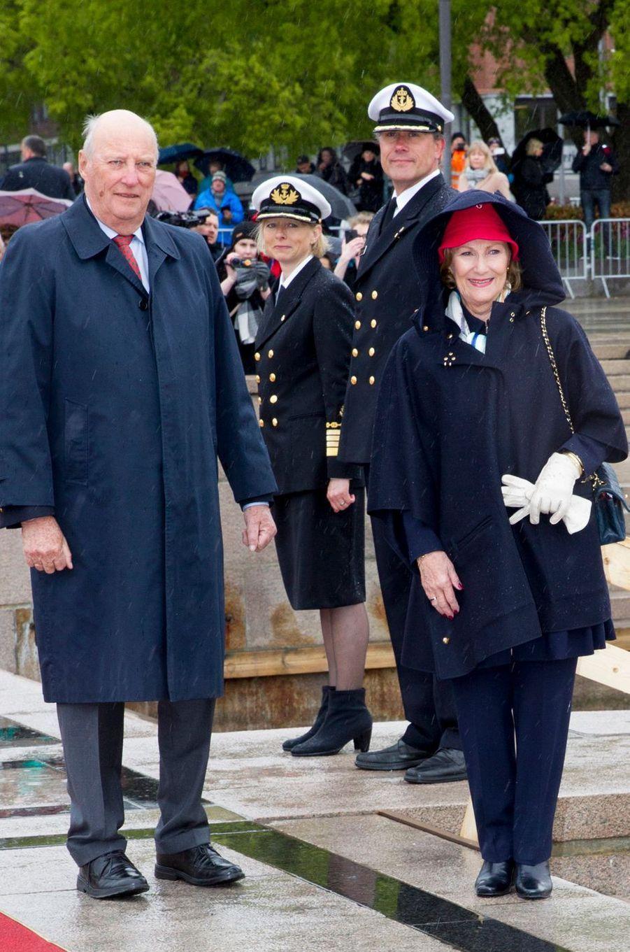 Le roi Harald V et la reine Sonja de Norvège à Oslo, le 10 mai 2017