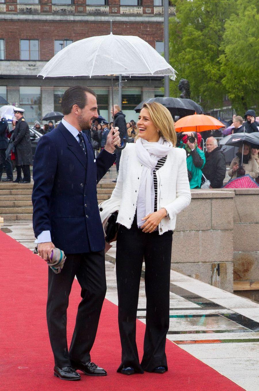 Le prince Nikolaos et la princesse Tatiana de Grèce à Oslo, le 10 mai 2017