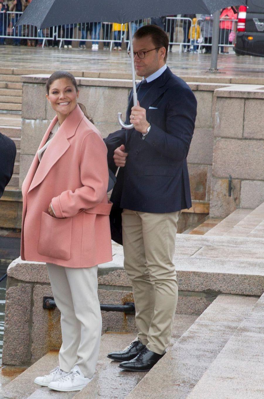 La princesse Victoria et le prince Daniel de Suède à Oslo, le 10 mai 2017