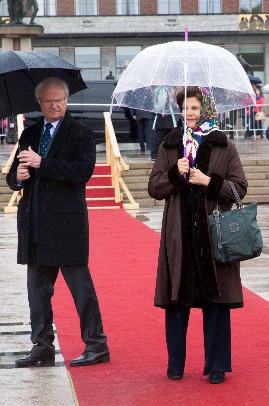 Le roi Carl XVI Gustaf et la reine Silvia de Suède à Oslo, le 10 mai 2017
