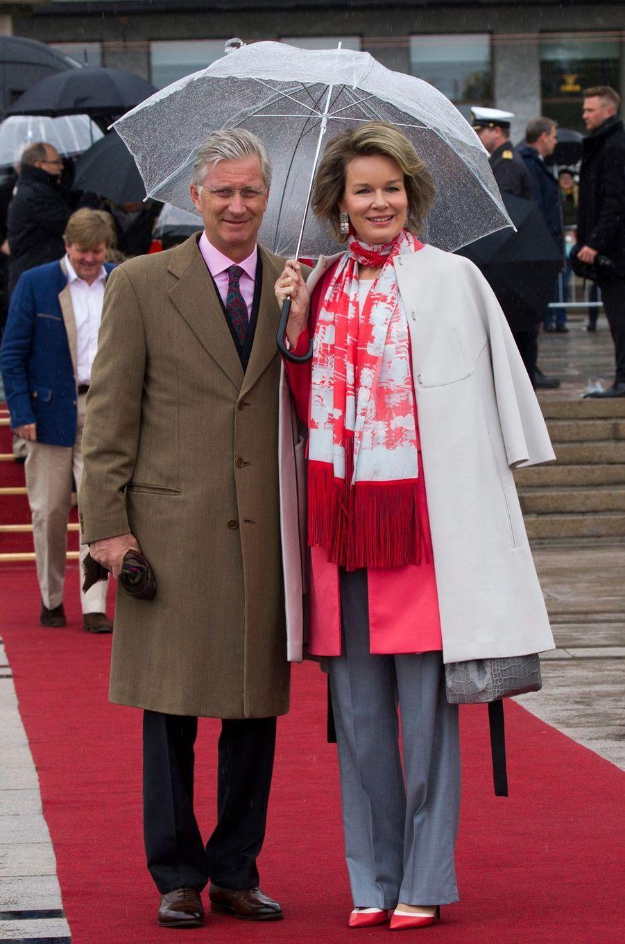 Le roi des Belges Philippe et la reine Mathilde à Oslo, le 10 mai 2017