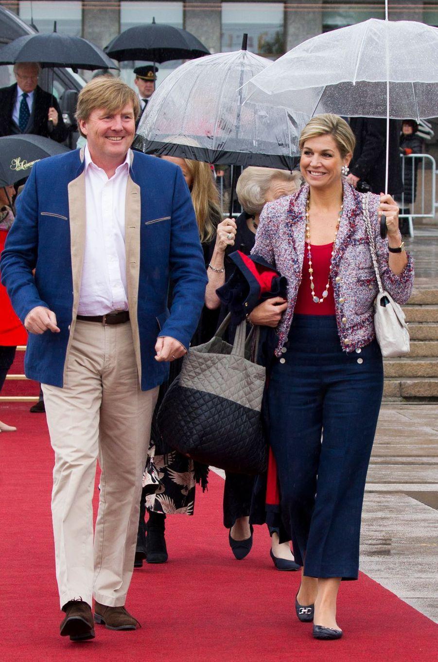 Le roi Willem-Alexander et la reine Maxima des Pays-Bas à Oslo, le 10 mai 2017