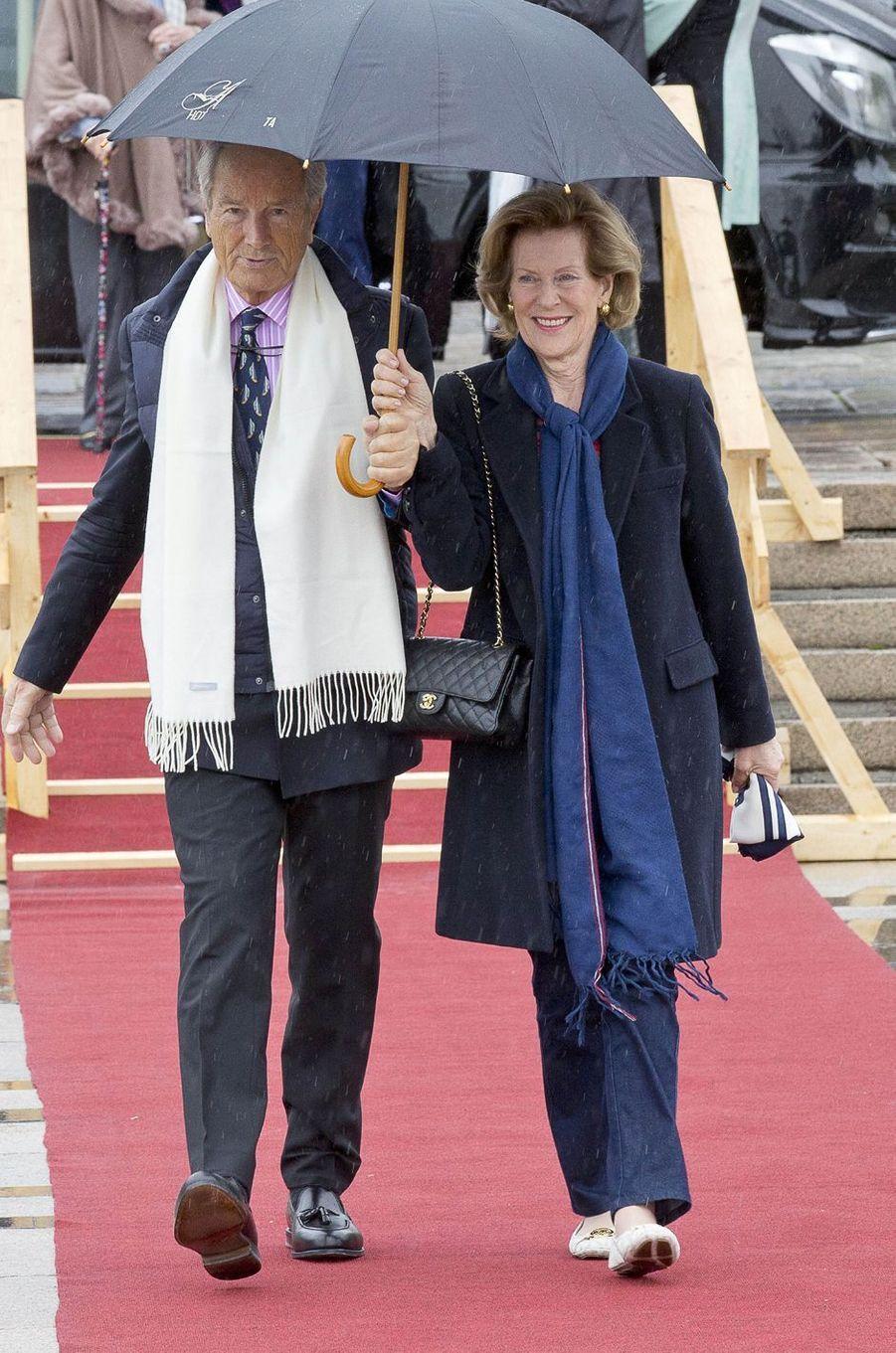 Bernhard Mach et Madeleine Kogevinas, née Bernadotte, à Oslo le 10 mai 2017