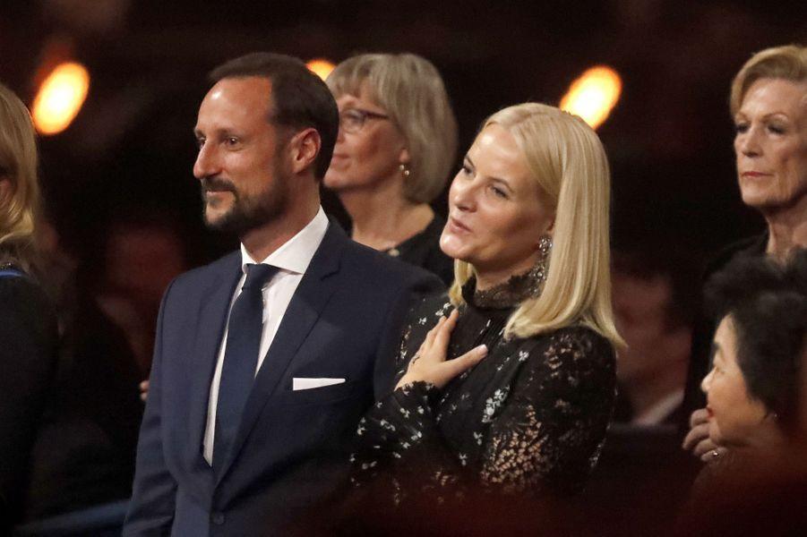 La princesse Mette-Marit et le prince Haakon de Norvège à Oslo, le 11 décembre 2017