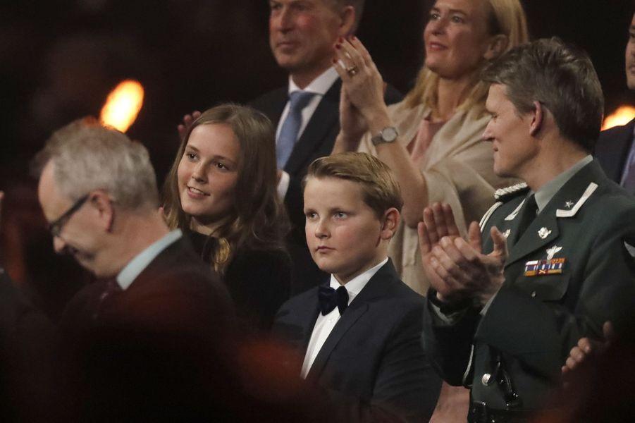 La princesse Ingrid Alexandra de Norvège et le prince Sverre Magnus à Oslo, le 11 décembre 2017