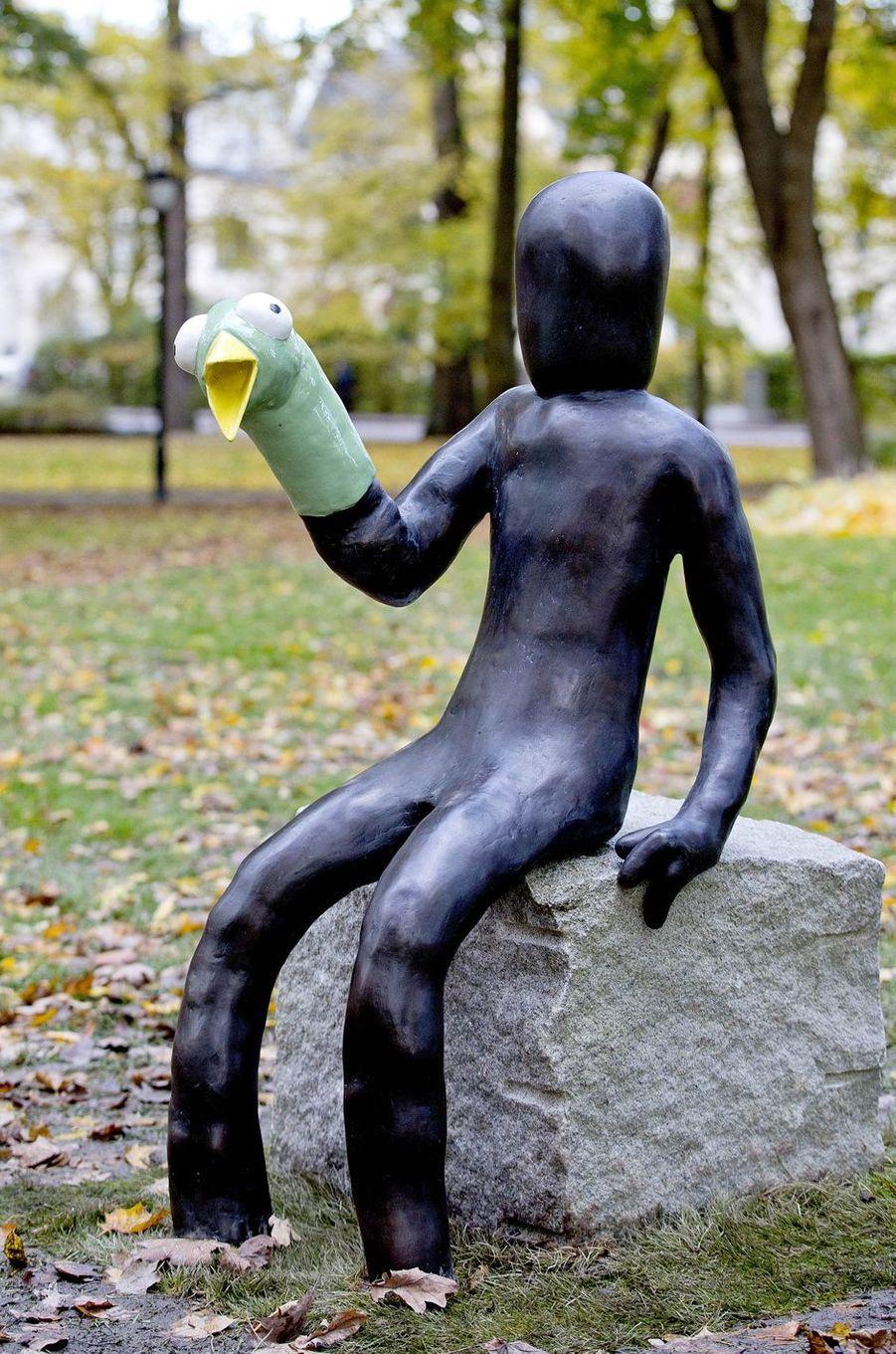 L'une des nouvelles sculptures du parc Princesse Ingrid Alexandra à Oslo, le 19 octobre 2017