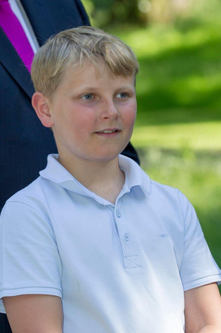 Le prince Sverre Magnus de Norvège à Oslo, le 13 juin 2016
