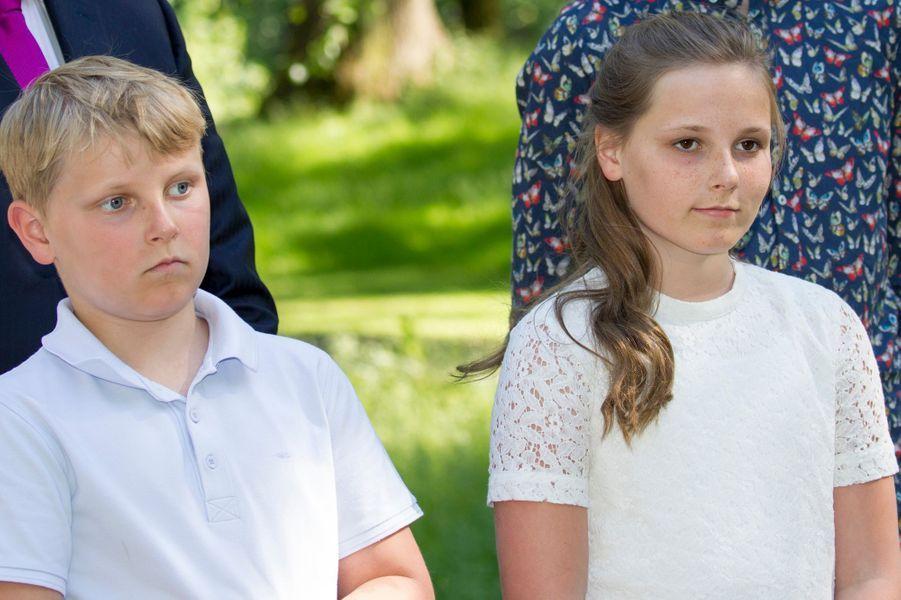 Le prince Sverre Magnus et la princesse Ingrid Alexandra de Norvège à Oslo, le 13 juin 2016