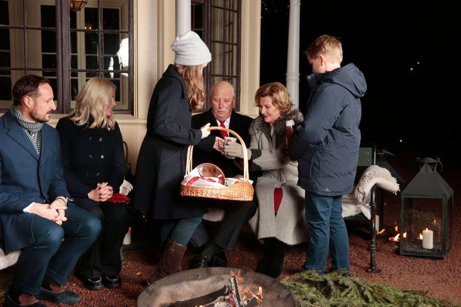 La famille royale de Norvège à Oslo, le 20 décembre 2016