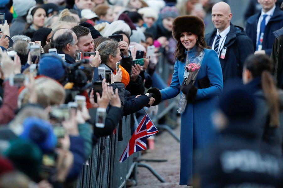 La duchesse de Cambridge à Oslo, le 1er février 2018