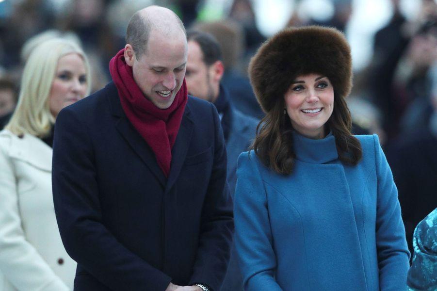 La duchesse de Cambridge et le prince William à Oslo, le 1er février 2018