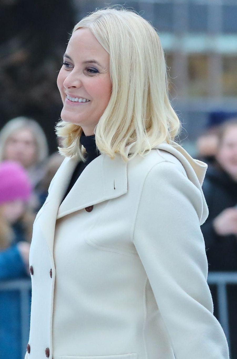 La princesse Mette-Marit de Norvège à Oslo, le 1er février 2018