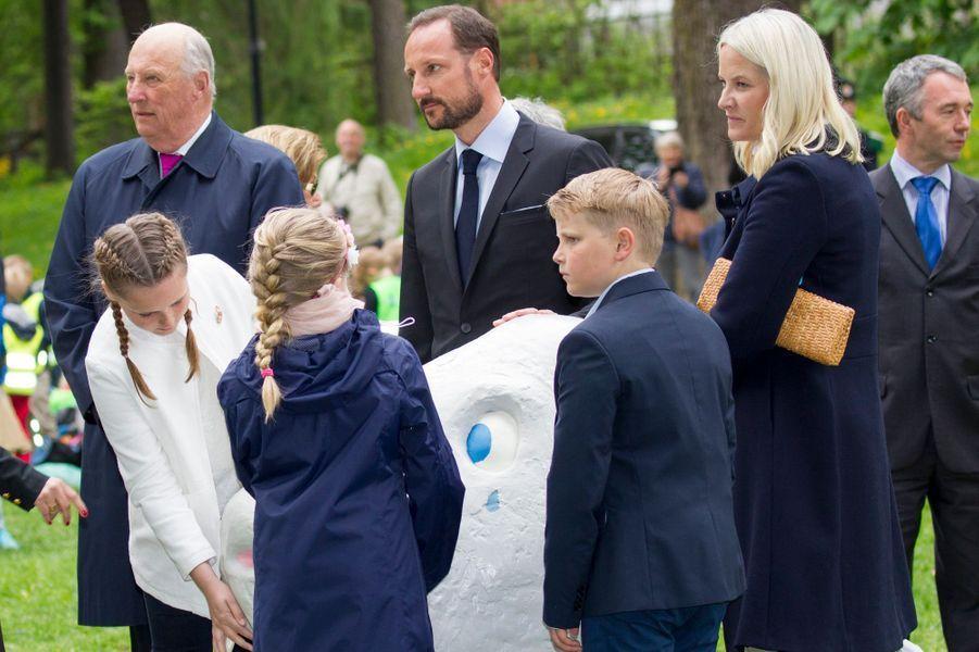 La princesse Ingrid Alexandra avec la famille royale de Norvège à Oslo, le 19 mai 2016