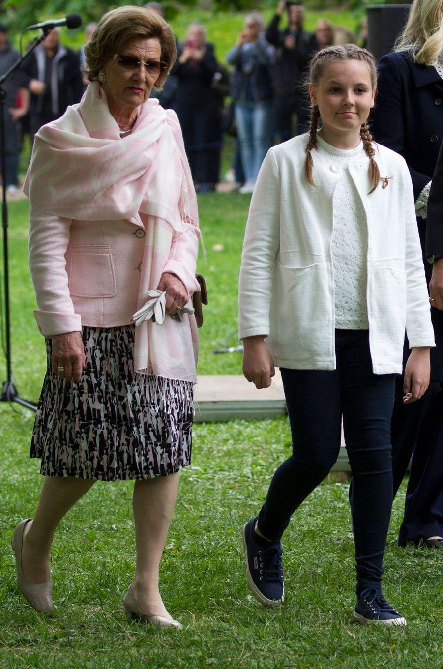 La princesse Ingrid Alexandra avec la reine Sonja de Norvège à Oslo, le 19 mai 2016