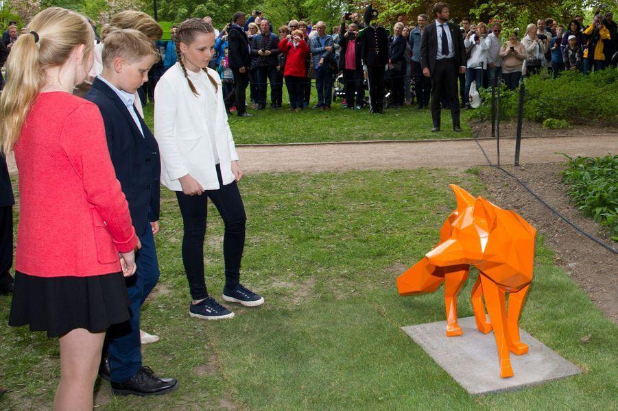 La princesse Ingrid Alexandra et le prince Sverre Magnus de Norvège à Oslo, le 19 mai 2016
